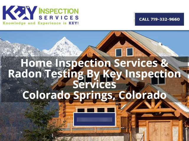 Mountains, log cabin, snow, advertising Key Home Inspection Services